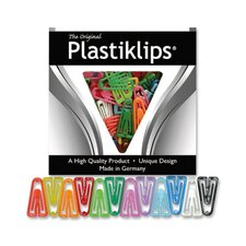 Plastic Paper Clips, Medium, 500/BX, Assorted Colors
