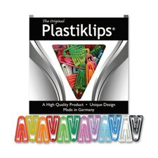 Plastic Paper Clips, X-Large, 50/BX, Assorted Colors
