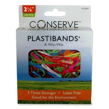 "PlastiBands, Size 2-1/8"", 200/BX, Assorted Colors"