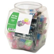 Mini Tape Dispenser, 20 per Set, Clear