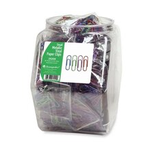 Paper Clips, Small, Metallic/ Vinyl Coated, 36 per Set, Assorted