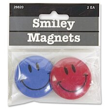 <strong>Baumgartens</strong> Smiley face Magnet, 2 per Pack, Assorted