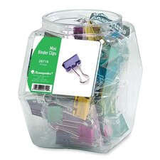 "<strong>Baumgartens</strong> Binder Clips, Mini, 1/2"", Contemporary Metallic, 36 per Set, Assorted"