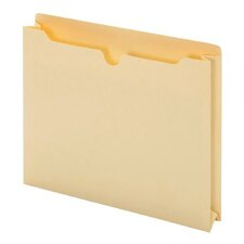 11 pt. Manila Letter Size Antimicrobial File Jacket (Set of 50)