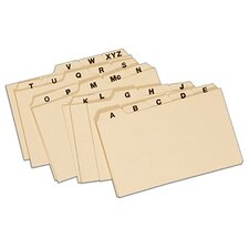 "15 pt. Manila 3"" x 5"" Card Index Guide (Set of 250)"