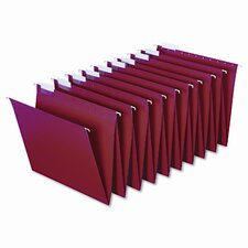 <strong>Globe Weis</strong> Hanging Accordion Folders, Letter Size, Red, 2 Sets of 10 Each Per Box