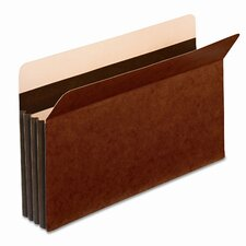 "Globe-Weis 3.5"" Expansion Accordion Pocket, Straight Cut, Legal (25/Box)"