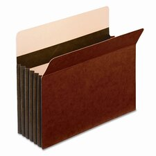 "Globe-Weis 5.25"" Expansion Accordion Pocket, Straight Cut, Letter (10/Box)"