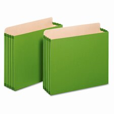 "Globe-Weis 3.5"" Expansion File Pockets, Straight, Letter"