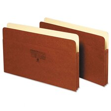 1 in Expansion Accordion Pocket, Straight, Manila/Redrope, Letter, Brown