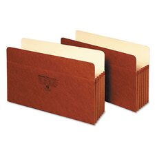 <strong>Globe Weis</strong> 5 in Expansion Accordion Pocket, Straight, Manila/Redrope, Letter, Brown