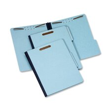File Folders, 1/3 Cut Tab, 2 Fasteners, Letter, 25/BX, Blue