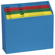<strong>Globe Weis</strong> A-Z Desktop Project File, 12 Pockets, Letter Size, Blue