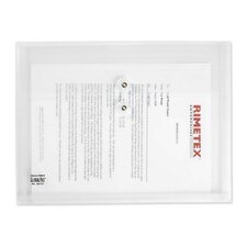 "Poly Envelope, Side-Opening, 1"" Expandable, Letter-Size, Clear"