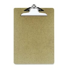 "Hardboard Clipboard, 1"" Paper Capacity, 9""x12-1/2"", Brown"