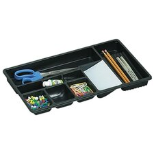"Drawer Tray, 9 Compartments, 16""x9""x1-1/2"", Black"