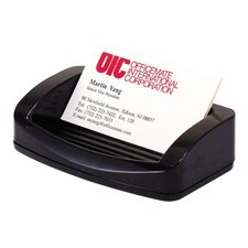 "Business Card/Clip Holder, 4-3/4""x2-3/4""x1-3/8"", Black"