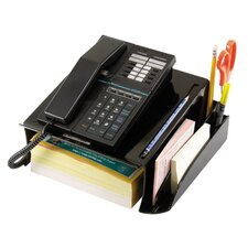 "Telephone Stand W/Storage Area, 12-1/2""x10-1/2""x5-1/8"", Black"