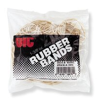 Rubber Bands, 1-3/8 oz., Assorted Sizes, Natural