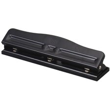 Adjustable 3 Hole Punch, 11 Sheet Capacity, Black