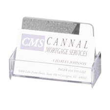 Business Card Holder, Shatter Resistant, Clear/Smoke