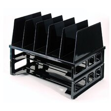 "<strong>Officemate International Corp</strong> Tray And Sorter System, 13-1/2""x9-1/8""x10-1/4, Black"