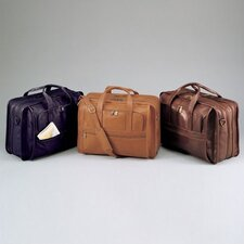 Cowhide Leather Expandable Accordion File Briefcase