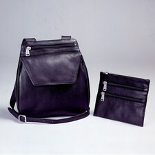 Black Cowhide Nappa Leather Shoulder Bag