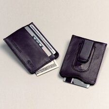 <strong>Winn International</strong> High Polished Cowhide Aniline Leather Credit Card Money Clip