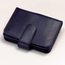 <strong>Winn International</strong> Cowhide Nappa Leather Two Fold Business Card Case