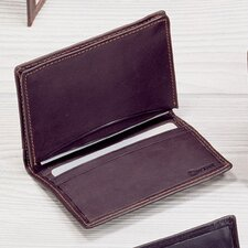 Cowhide Nappa Leather Two Fold Business Card Case II