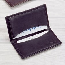 <strong>Winn International</strong> Black Cowhide Nappa Supple Leather Business Card Case