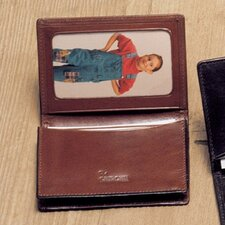 <strong>Winn International</strong> High Polished Cowhide Aniline Leather Two Fold Wallet Combo