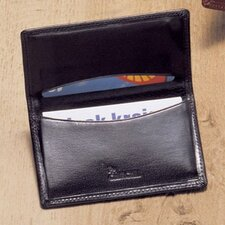 High Polished Leather Business Card Case