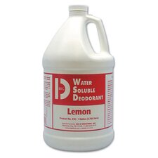 Water-Soluble Deodorant Lemon Scent Bottles 1 Gallon
