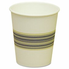 Paper Hot Cups, Blue & Tan, 20 Bags of 50, 1000/Carton, Various Sizes