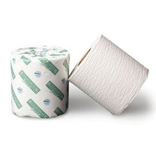Green Bathroom Tissue in White
