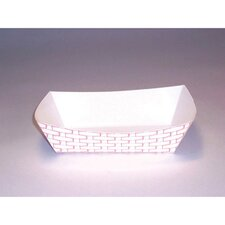 8 oz Paper Food Basket in Red and White