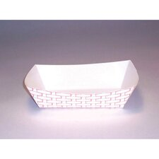 2 lbs Paper Food Basket in Red and White