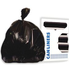 55-Gallon Super Extra-Heavy Grade Can Liner in Black