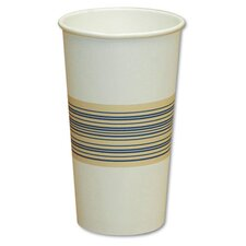 8 oz Paper Hot Cup in Blue and Tan