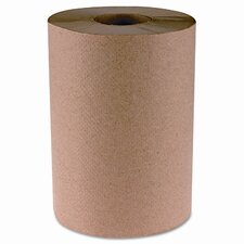"Hardwound Paper Towels, 8""x350', One-Ply, 12 Rolls/Case, Natural Kraft Color"