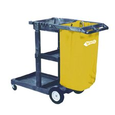 Janitorial Cart 3 Shelves in Blue