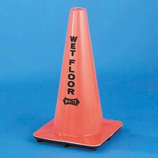 """Wet Floor"" Cone Vinyl in Orange"