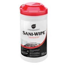Sani-Wipe Surface Sanitizing Wipe in White