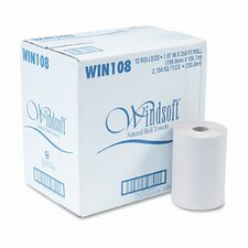 Nonperforated Paper Towel Roll, 8 x 350', Natural, 12/carton