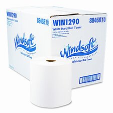 Nonperforated Paper Towel Roll, 8 x 800', Bleached White, 12/carton