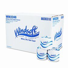 <strong>Windsoft</strong> Single Roll Bath Tissue, 96 Rolls/Carton