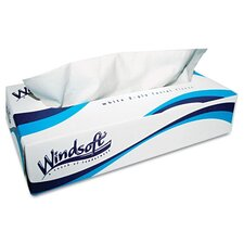 Facial 2-Ply Tissues - 100 Tissues per Box / 6 Boxes