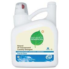 <strong>Seventh Generation</strong> Natural 2X Concentrate Laundry Liquid, Free and Clear, 150 Oz. Bottle
